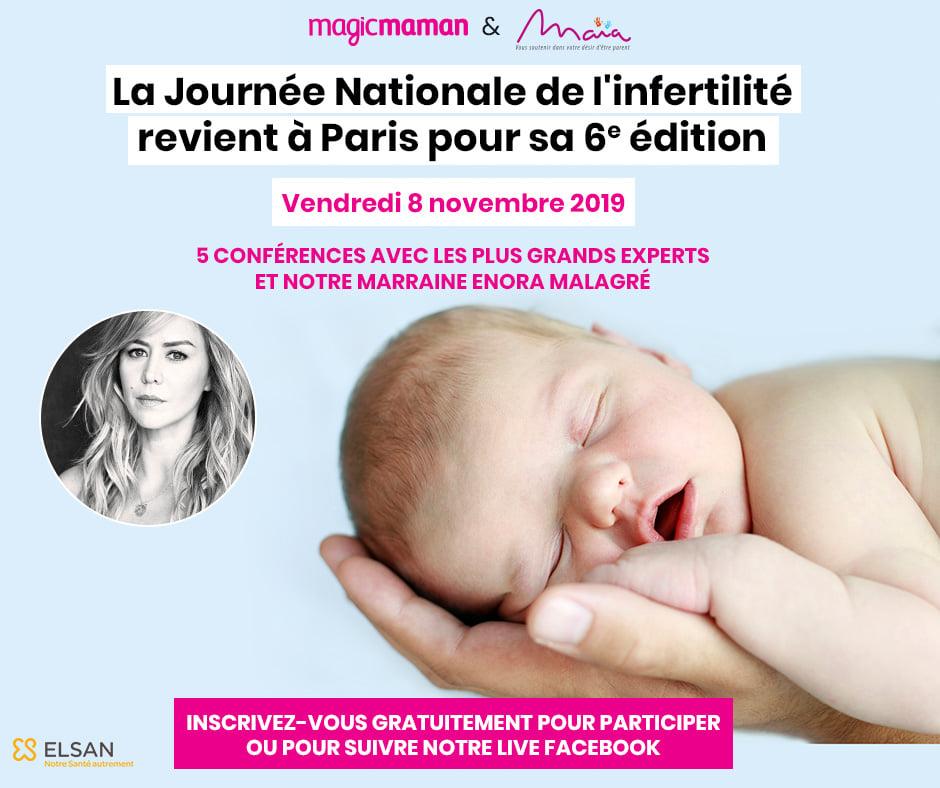 6ème EDITION DE LA JOURNEE NATIONALE DE L'INFERTILITE LE VENDREDI 8 NOVEMBRE A PARIS