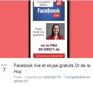Ginemed organise un Facebook Live le 7 novembre 2019