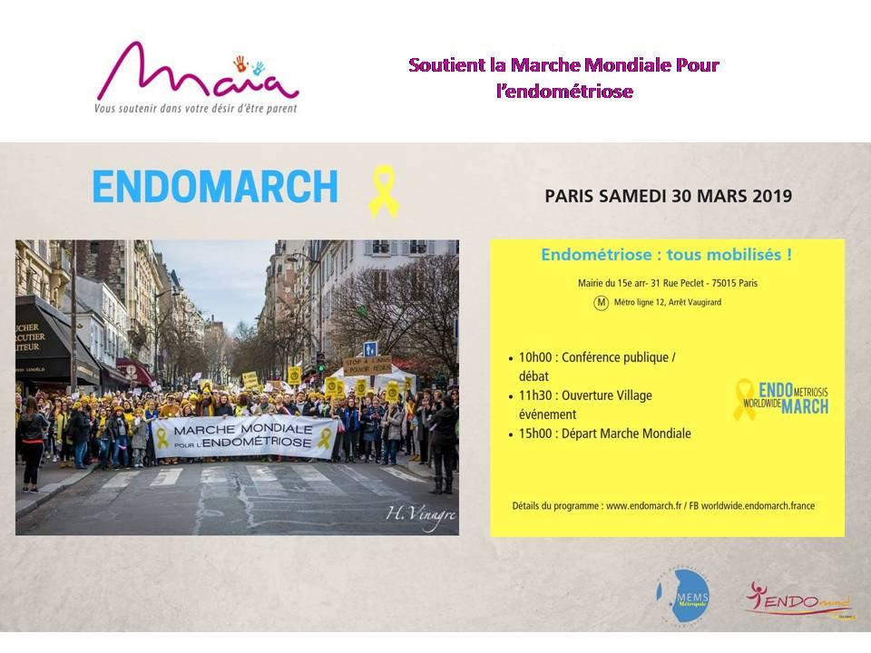 Endomarch à Paris le samedi 30 Mars 2019