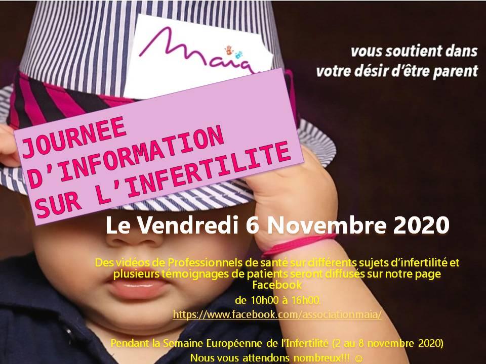 Journée d'information sur l'infertilité le Vendredi 6 Novembre 2020