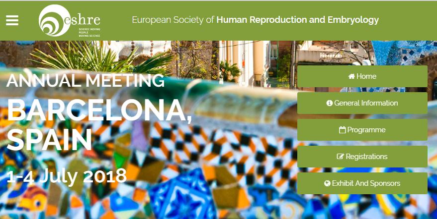 Maia fut au congrès de l'ESHRE du 2 au 4 juillet 2018 à Barcelone