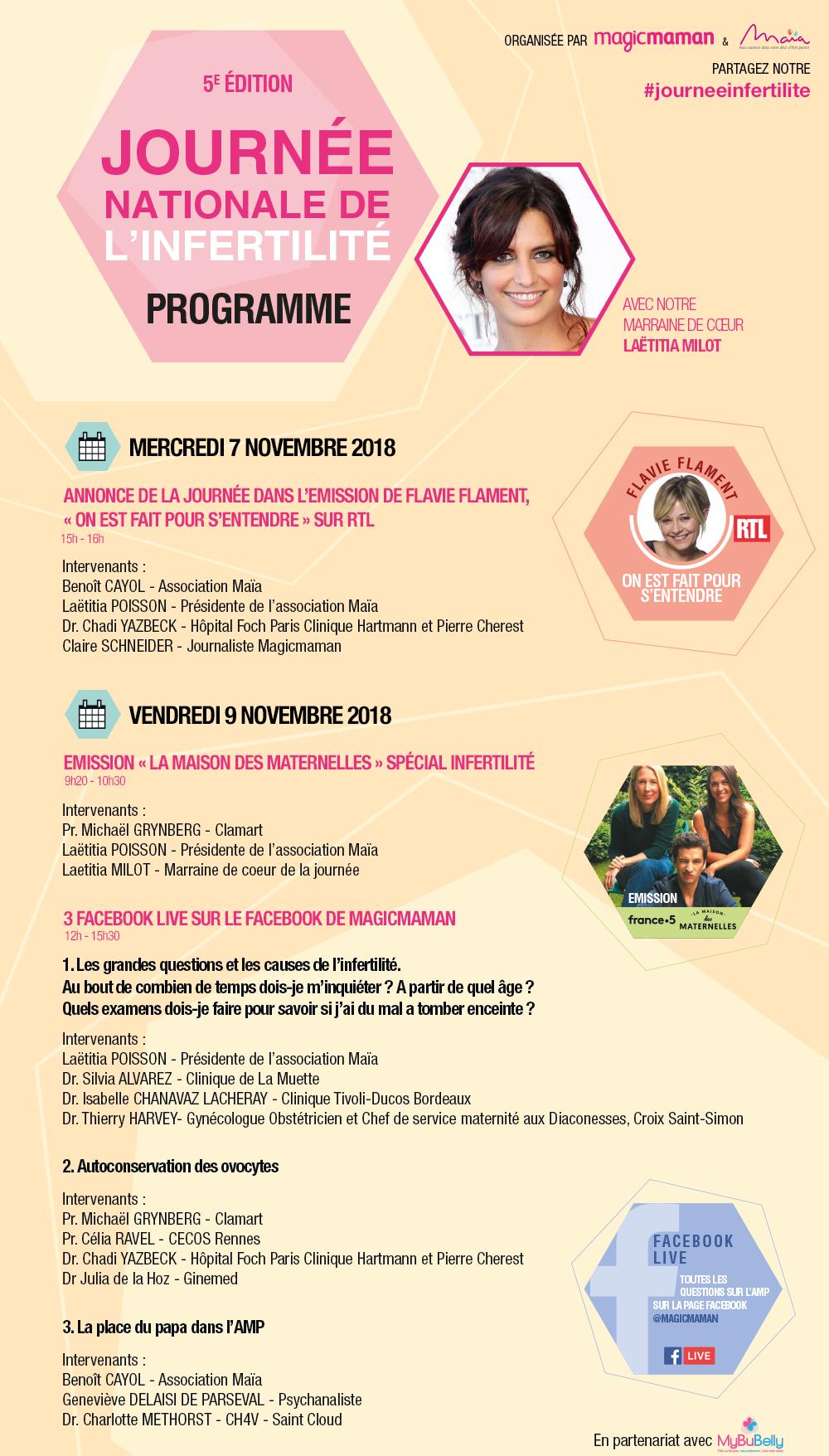 JOURNEE NATIONALE DE L'INFERTILITE LE 9 NOVEMBRE 2018 ***  NOUVEAU FORMAT***